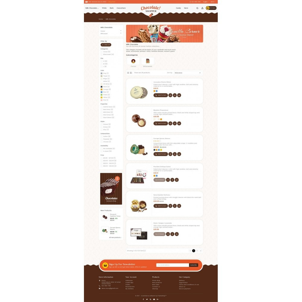 theme - Regali, Fiori & Feste - Chocolate Cream - 5