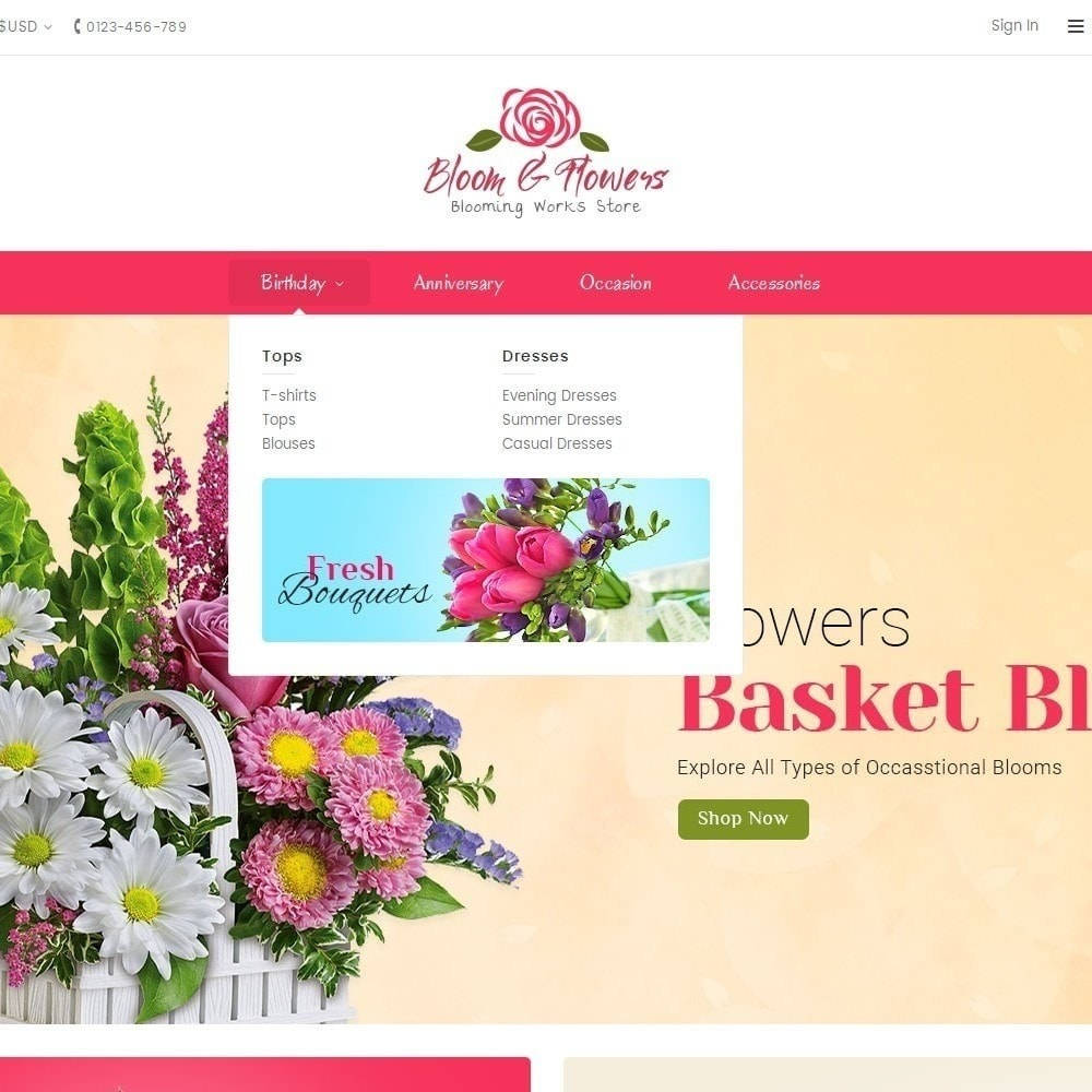 theme - Regalos, Flores y Celebraciones - Bloom Flower Store - 9