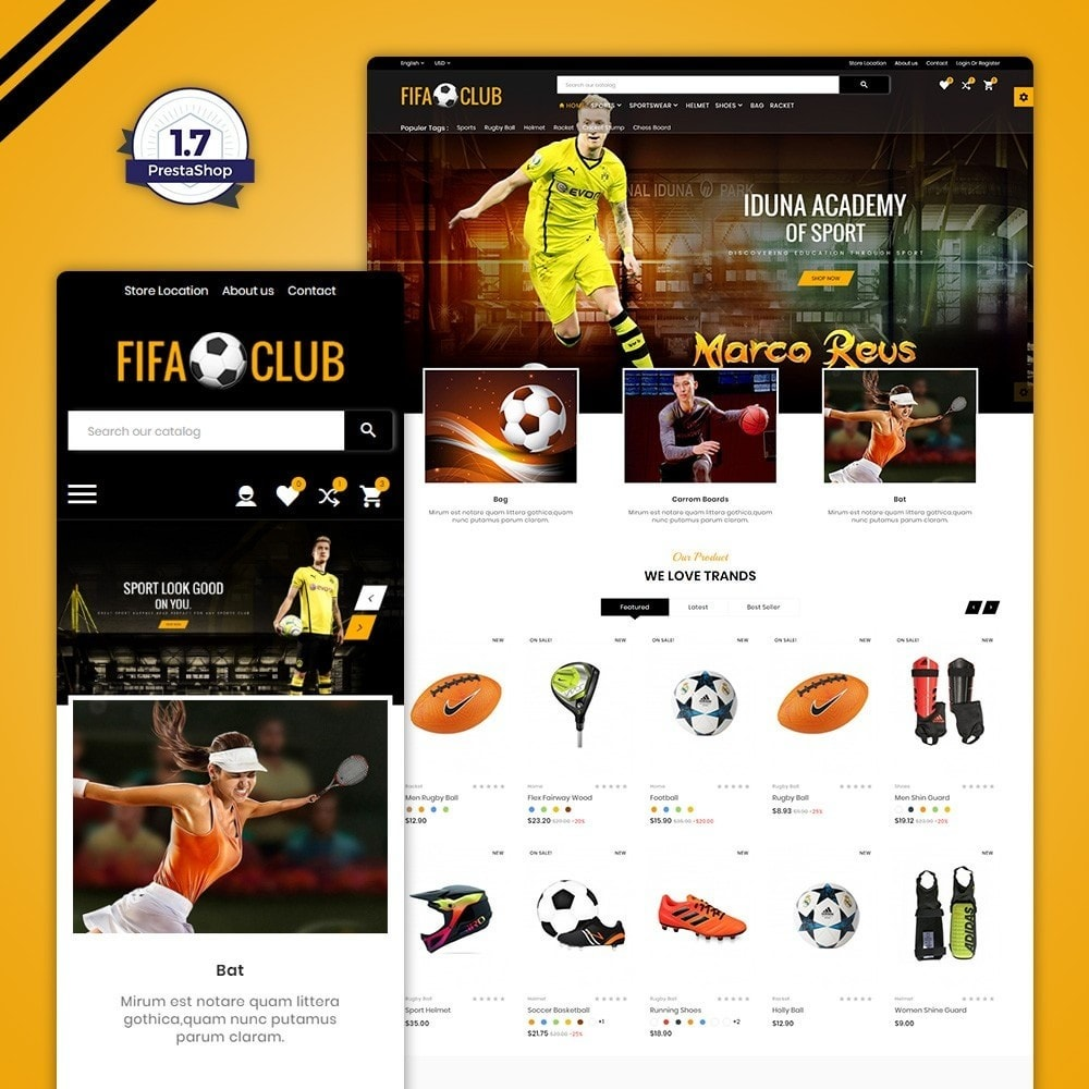 theme - Sport, Aktivitäten & Reise - Fifa Club Sports and Accessories Store - 1