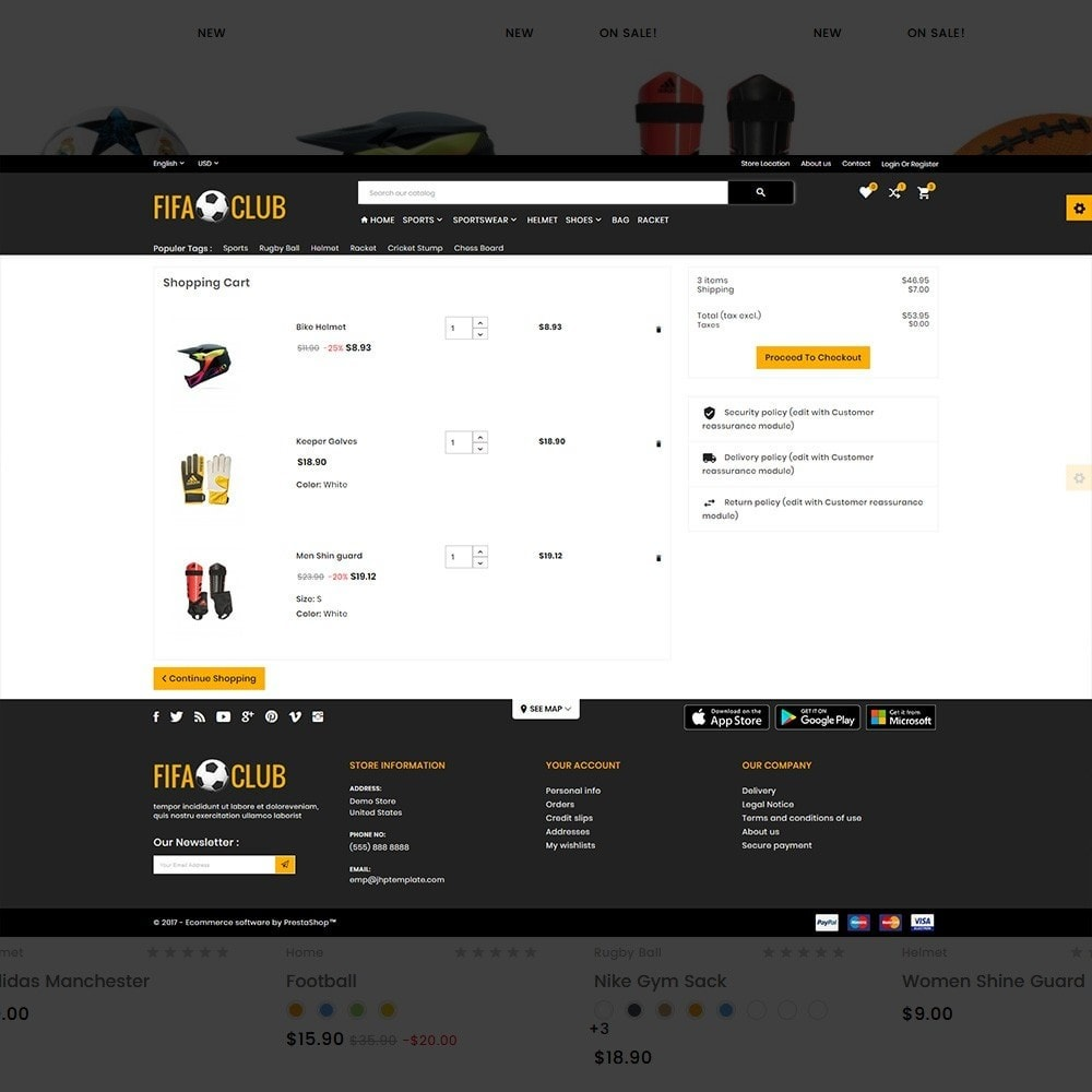 theme - Sport, Aktivitäten & Reise - Fifa Club Sports and Accessories Store - 5