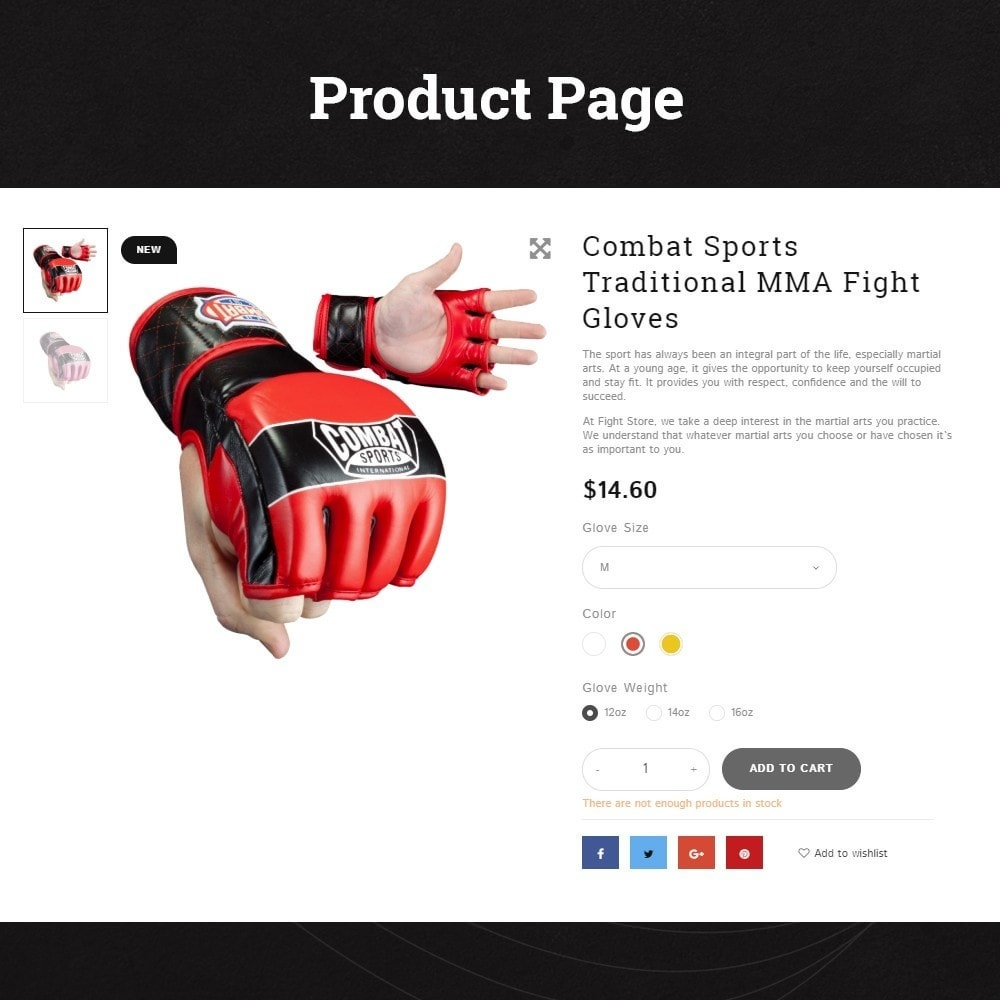 theme - Sport, Loisirs & Voyage - Fight Store - sports equipment and apparel for fighting - 2