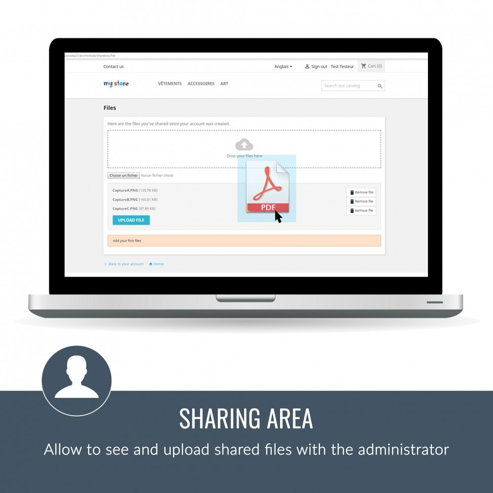 module - Customer Service - Sharebox: Share files with fun ! - 2