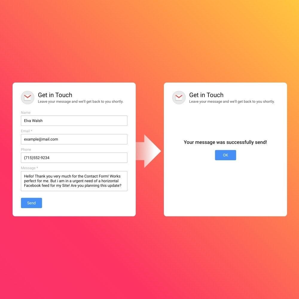 module - Formulaires de Contact & Sondages - Elfsight Contact Form - 2