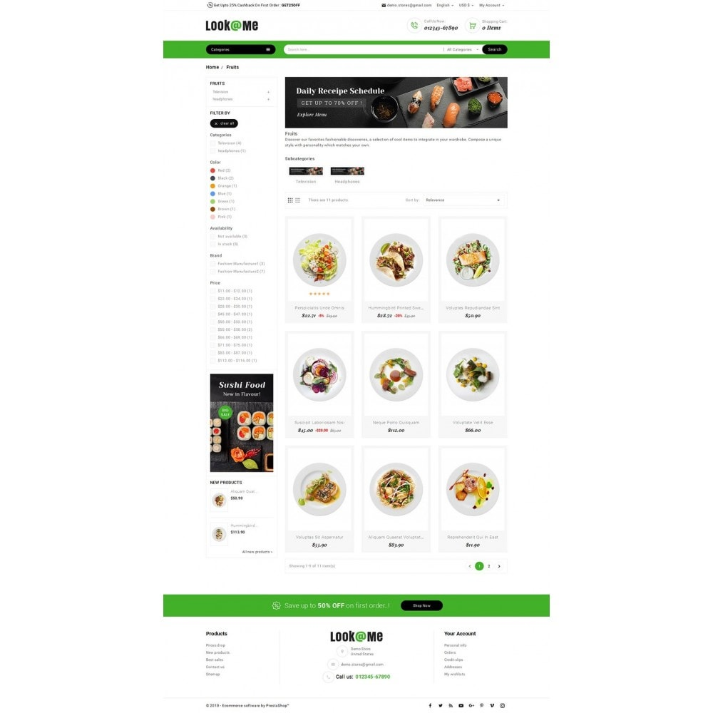 theme - Alimentos & Restaurantes - Look me Restaurant Food - 3