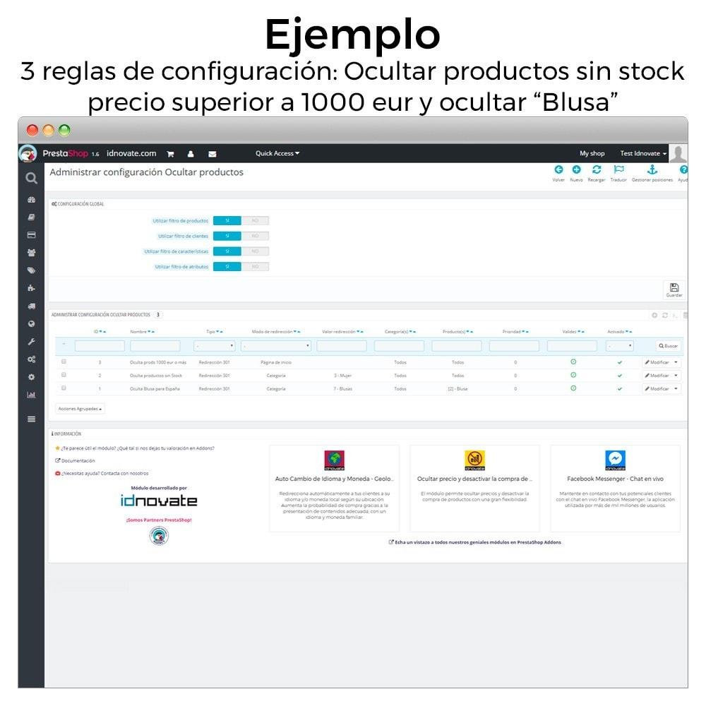 module - Gestión de Stock y de Proveedores - Ocultar o mostrar productos (por stock, precio, geoip) - 8