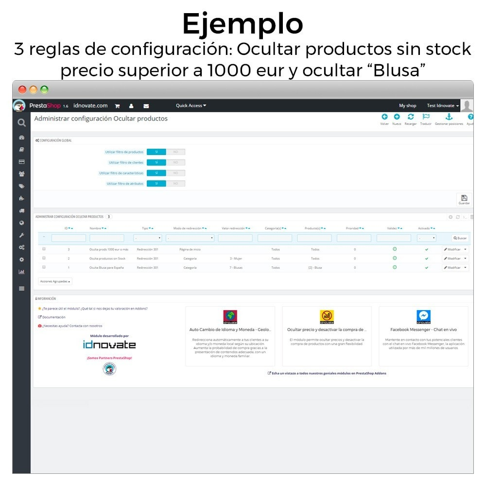 module - Gestión de Stock y de Proveedores - Ocultar productos (por stock, precio, geolocalización) - 8