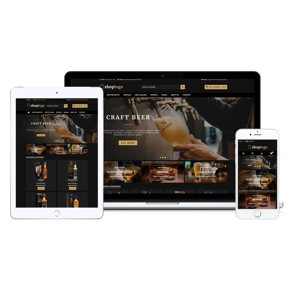 theme - Напитки и с сигареты - AT18 Black - Drink, alcohol, liquor, whisky, beer store - 14