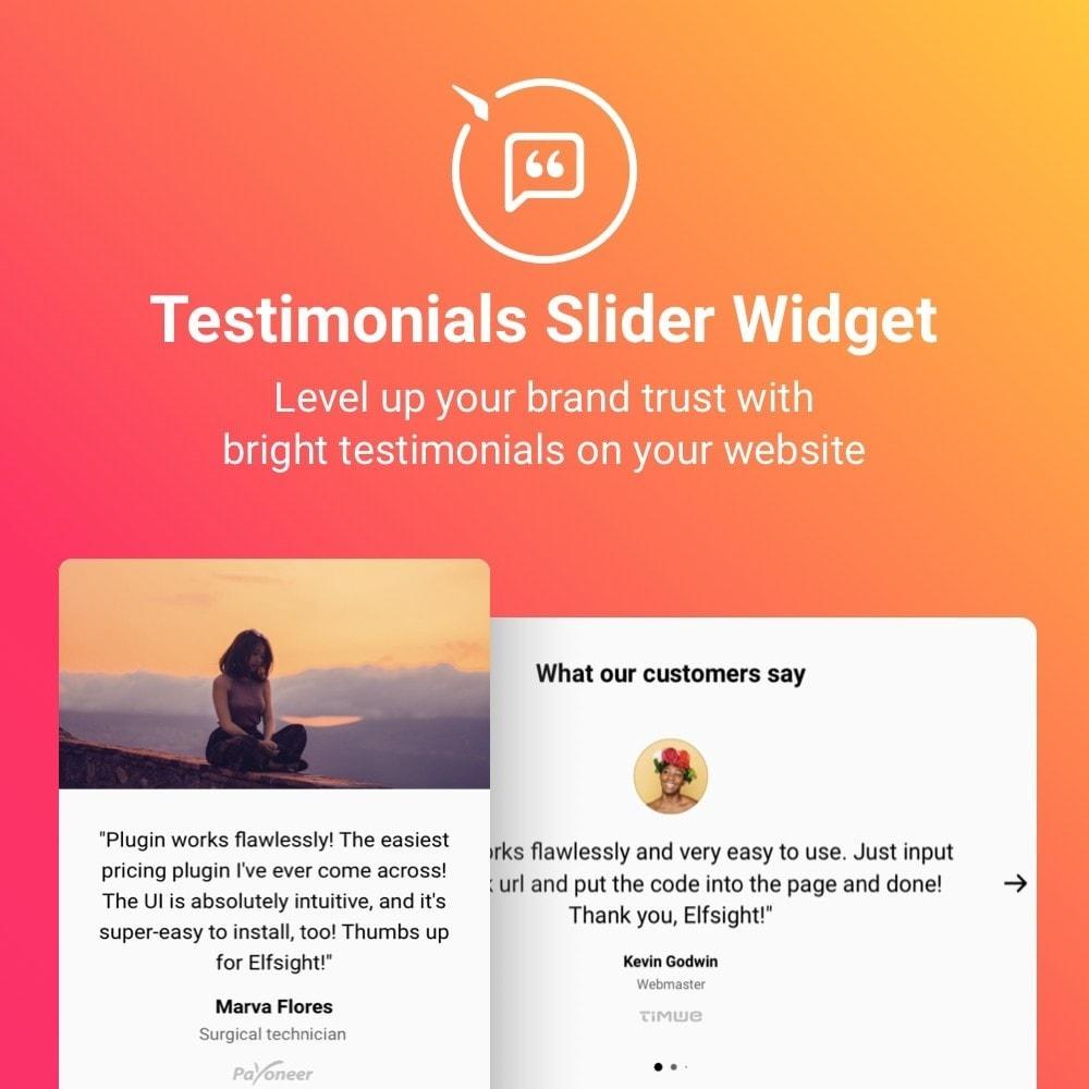 module - Opiniões de clientes - Elfsight Testimonials Slider - 1
