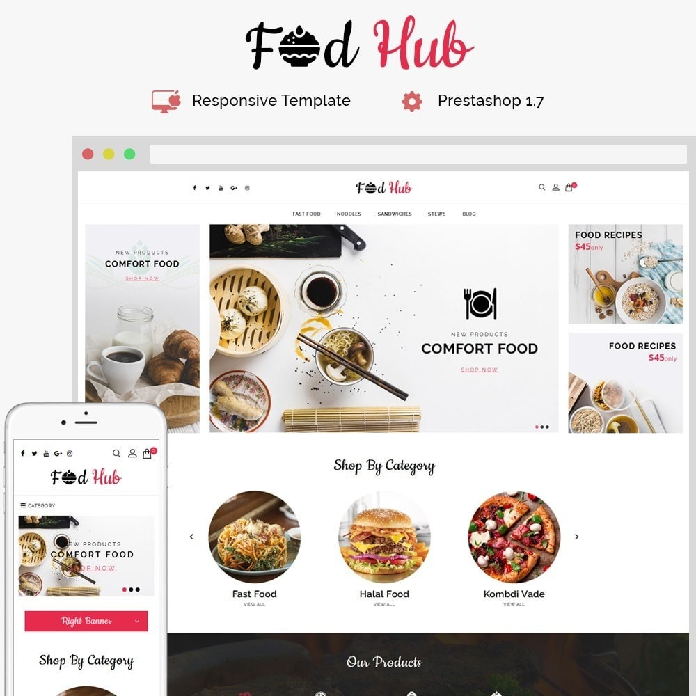 theme - Lebensmittel & Restaurants - FoodHub Demo Store - 1