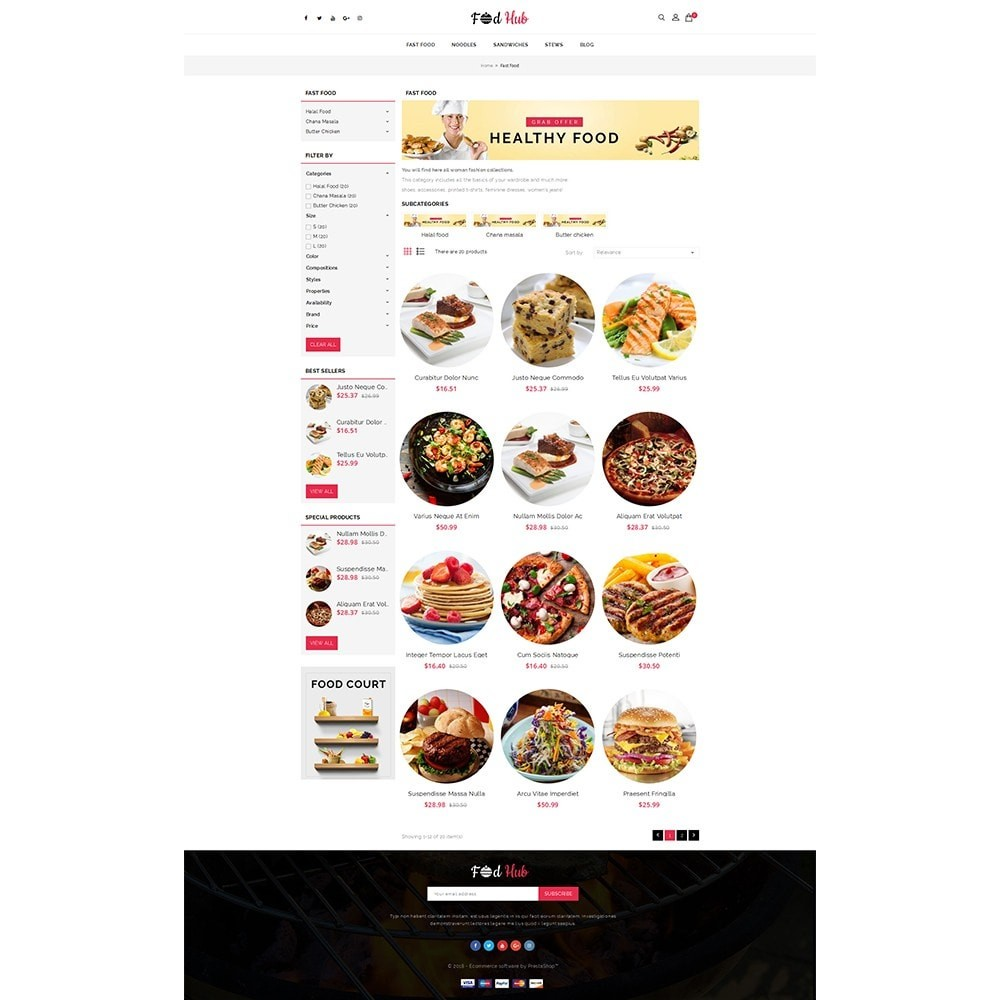 theme - Lebensmittel & Restaurants - FoodHub Demo Store - 3