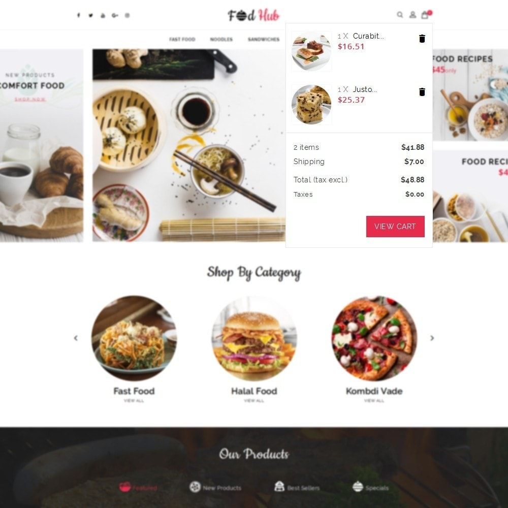 theme - Lebensmittel & Restaurants - FoodHub Demo Store - 8