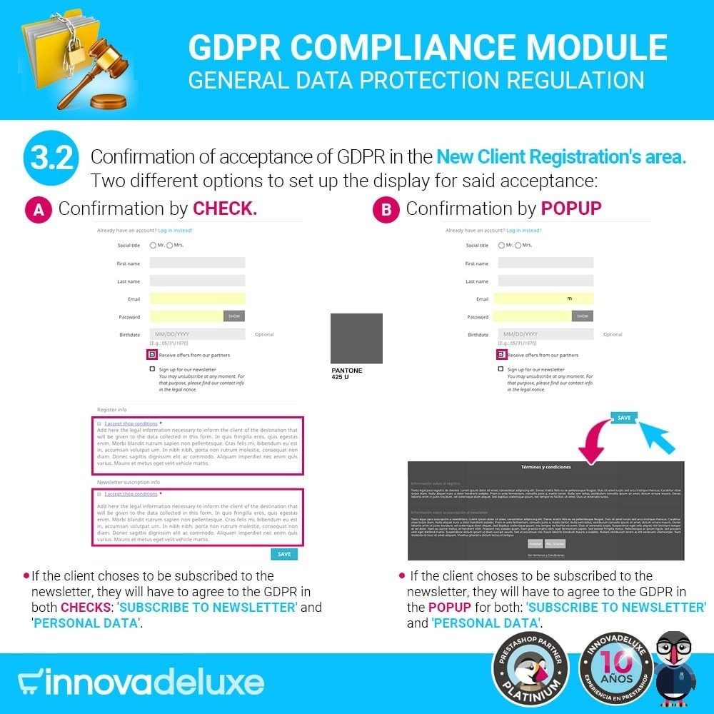 module - Legal - Data privacy extended (data protection law) - GDPR - 5