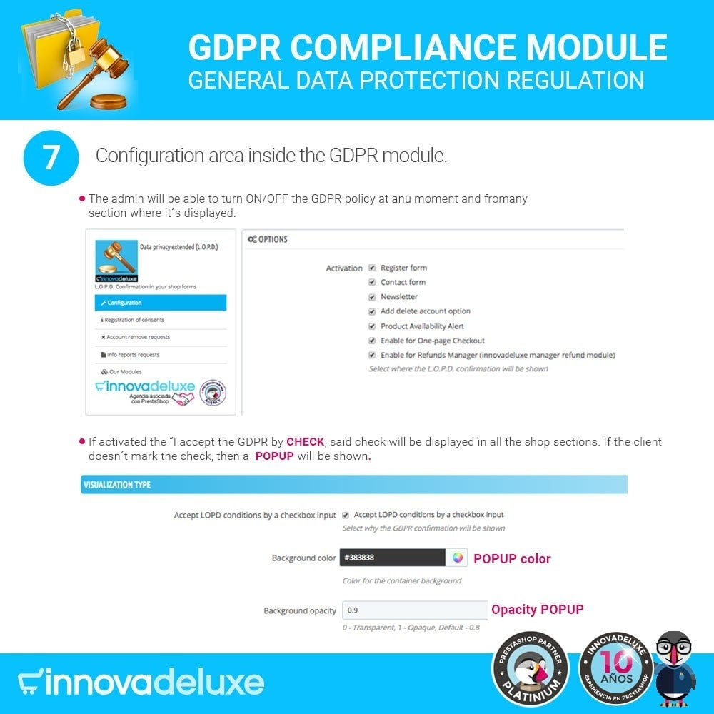 module - Legal - Data privacy extended (data protection law) - GDPR - 12