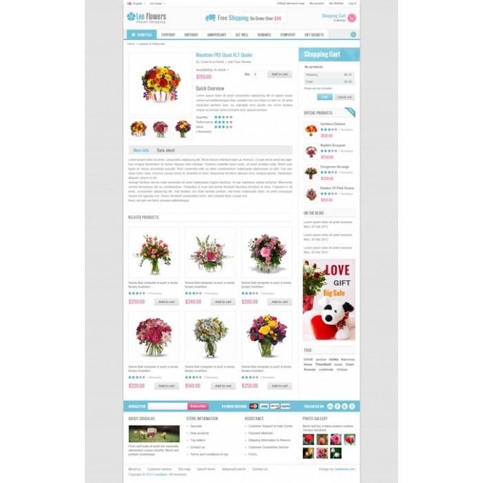 theme - Cadeaux, Fleurs et Fêtes - Leo Flower - 5
