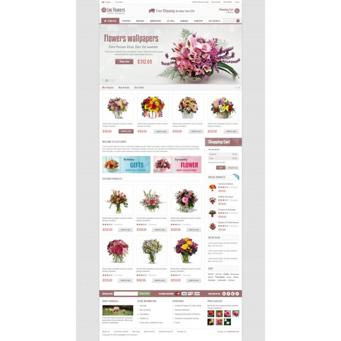 theme - Cadeaux, Fleurs et Fêtes - Leo Flower - 8