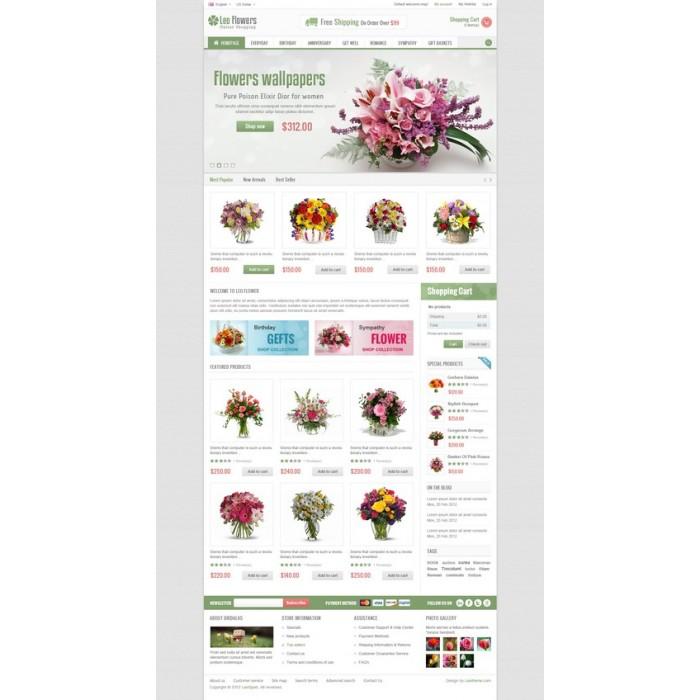 theme - Cadeaux, Fleurs et Fêtes - Leo Flower - 10