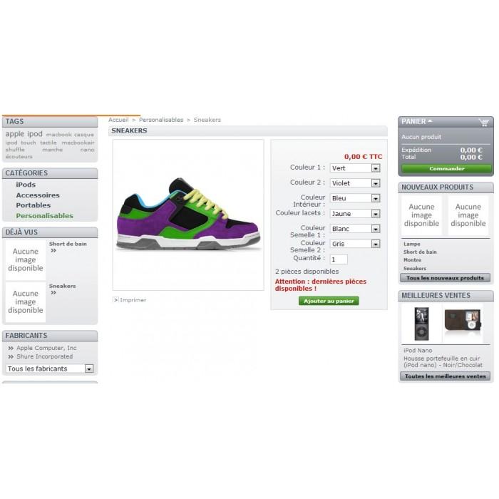 module - Diversificação & Personalização de Produtos - Product customization - 2