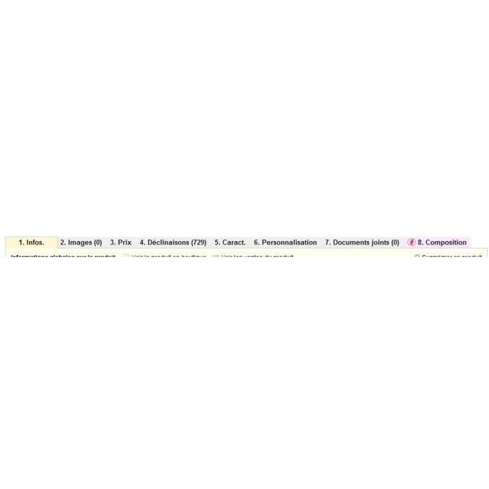 module - Déclinaisons & Personnalisation de produits - Personnalisation de produit - 7