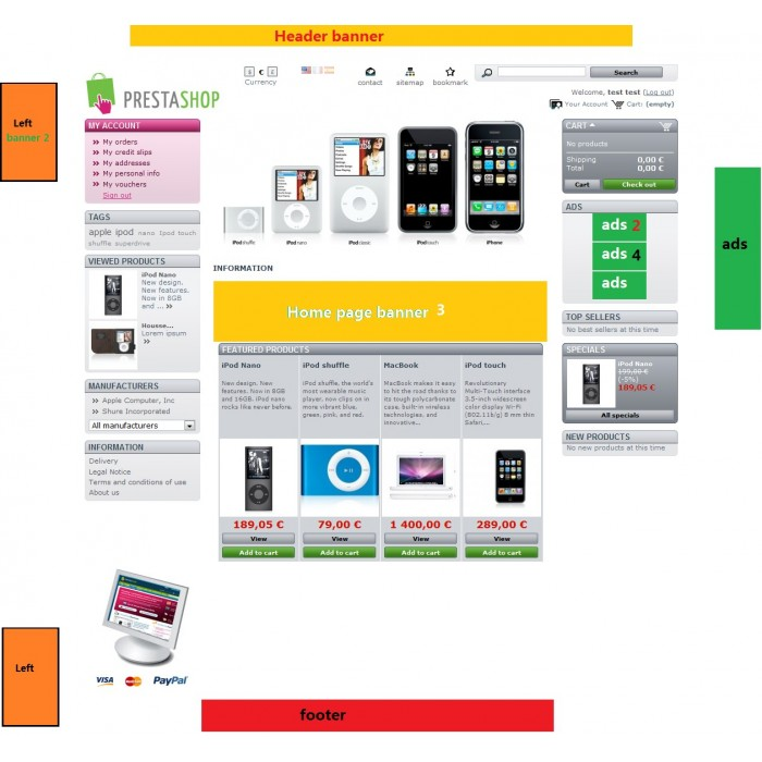 module - Bloques, Pestañas y Banners - Banner (ads) uploader Pro - 4
