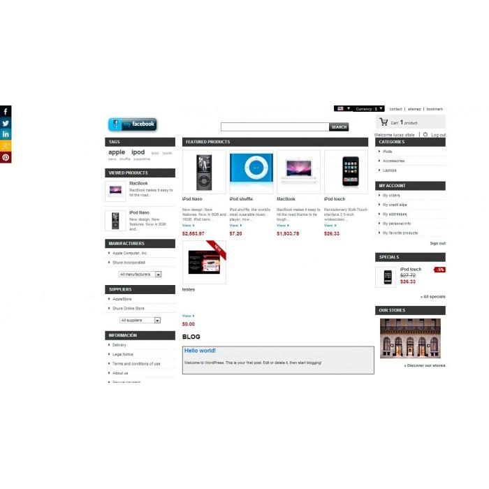 module - Deelknoppen & Commentaren - Social Tech / Share +Whatsapp - 6
