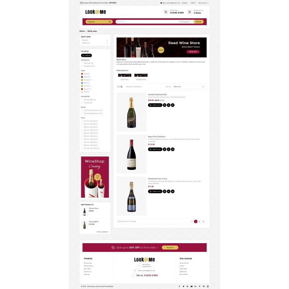 theme - Drink & Wine - Look me Wine Store - 4