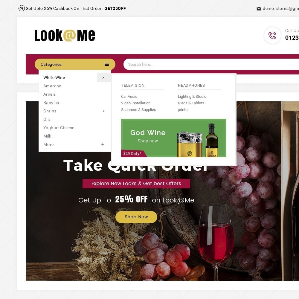 theme - Drink & Wine - Look me Wine Store - 9
