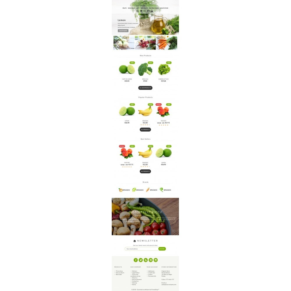 theme - Alimentation & Restauration - Organic Food - 4