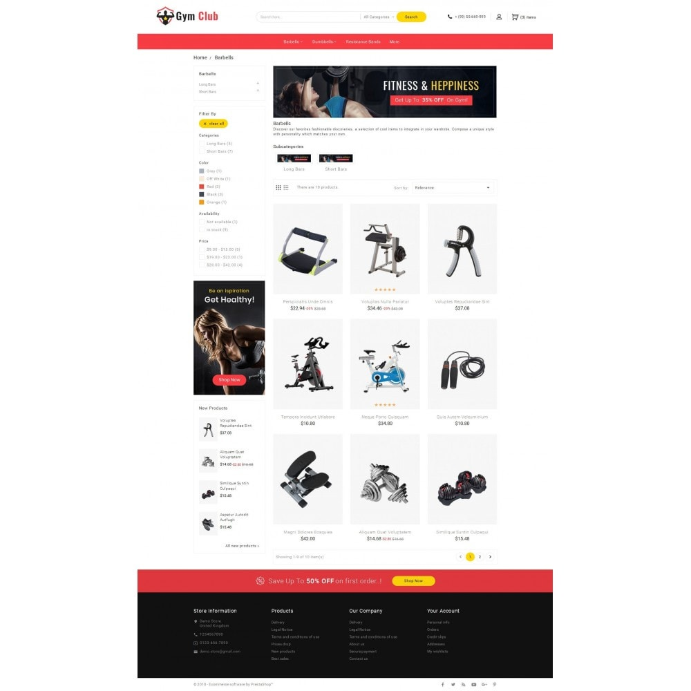 theme - Sport, Activiteiten & Reizen - Gym Club & Equipment - 3