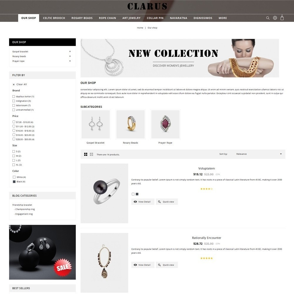 theme - Jewelry & Accessories - Clarus - The Jewelry Shop - 5