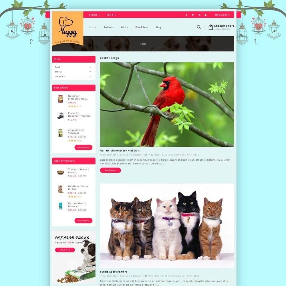 theme - Animais - Puppy Pet Store - 6