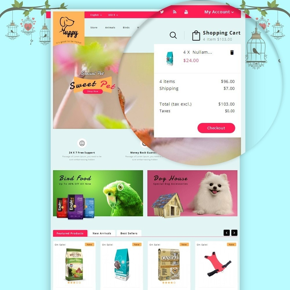 theme - Animaux - Puppy Pet Store - 7