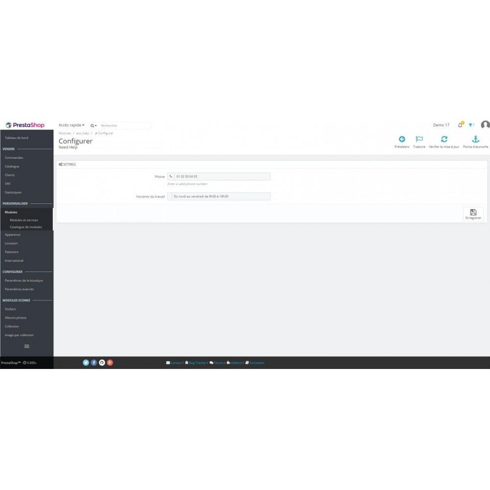 module - Formulaires de Contact & Sondages - EcoHelp - Informations de contact pour les clients - 2