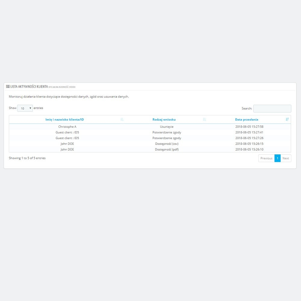 module - Wzmianki prawne - Oficjalna zgodność z RODO by PrestaShop (1.5 & 1.6) - 6
