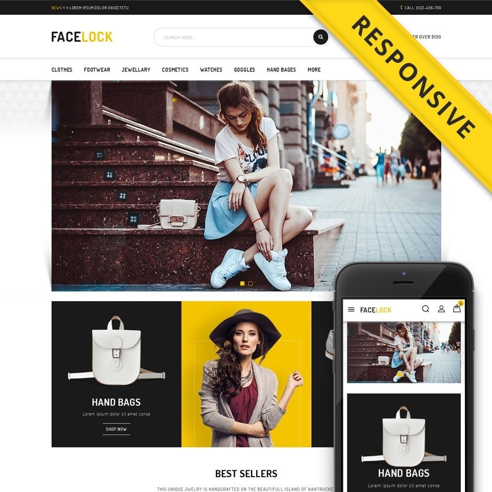 theme - Mode & Chaussures - Face Lock Accessories Store - 1