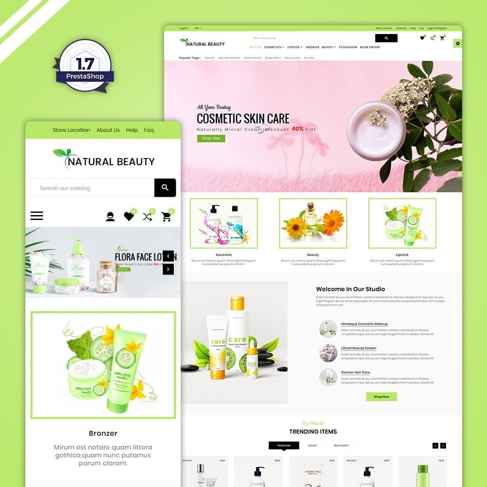 theme - Santé & Beauté - Natural Beauty – Cosmetic and lingerie Shop - 1