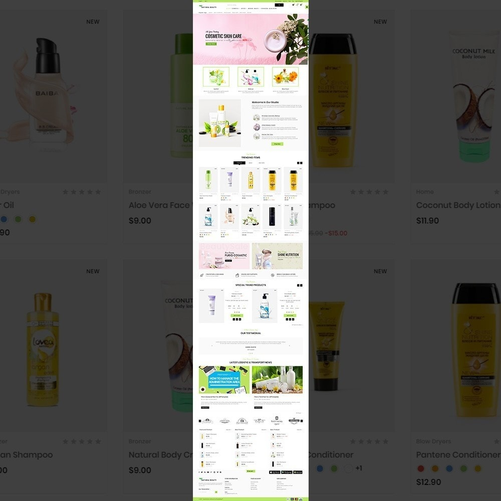 theme - Health & Beauty - Natural Beauty – Cosmetic and lingerie Shop - 2