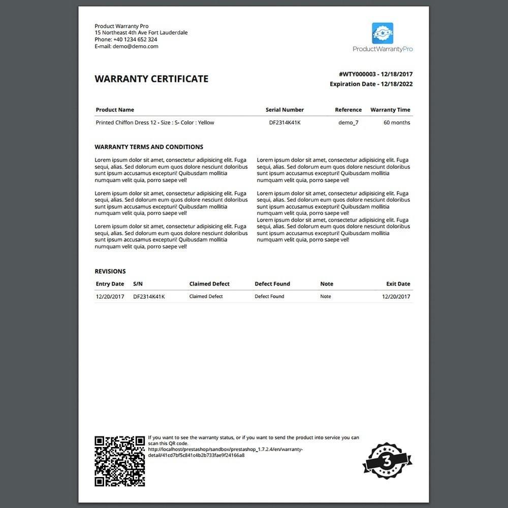 module - Gestión de Pedidos - Garantía del Producto Pro - 3