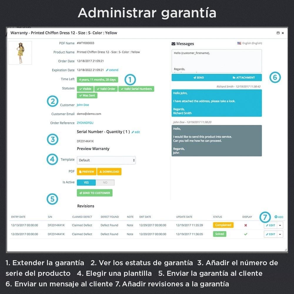 module - Gestión de Pedidos - Garantía del Producto Pro - 13