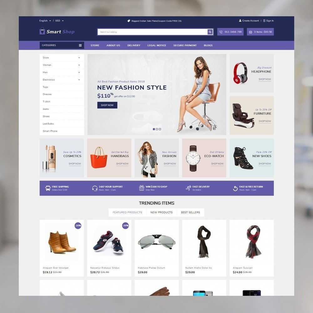 theme - Eletrônicos & High Tech - SmartShop - The MegaShop - 2