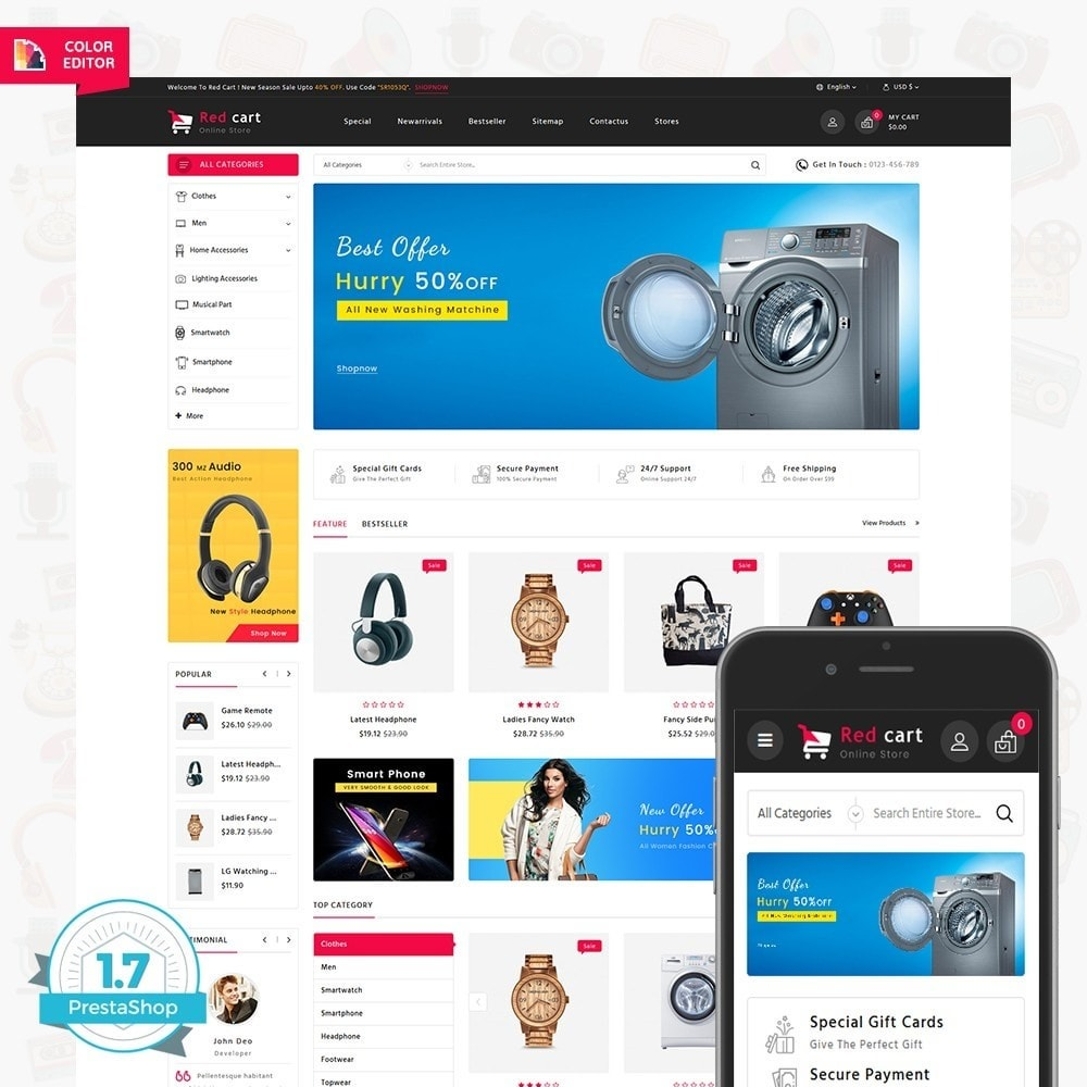 theme - Elettronica & High Tech - RedCart - The Mega Ecommerce Store - 1