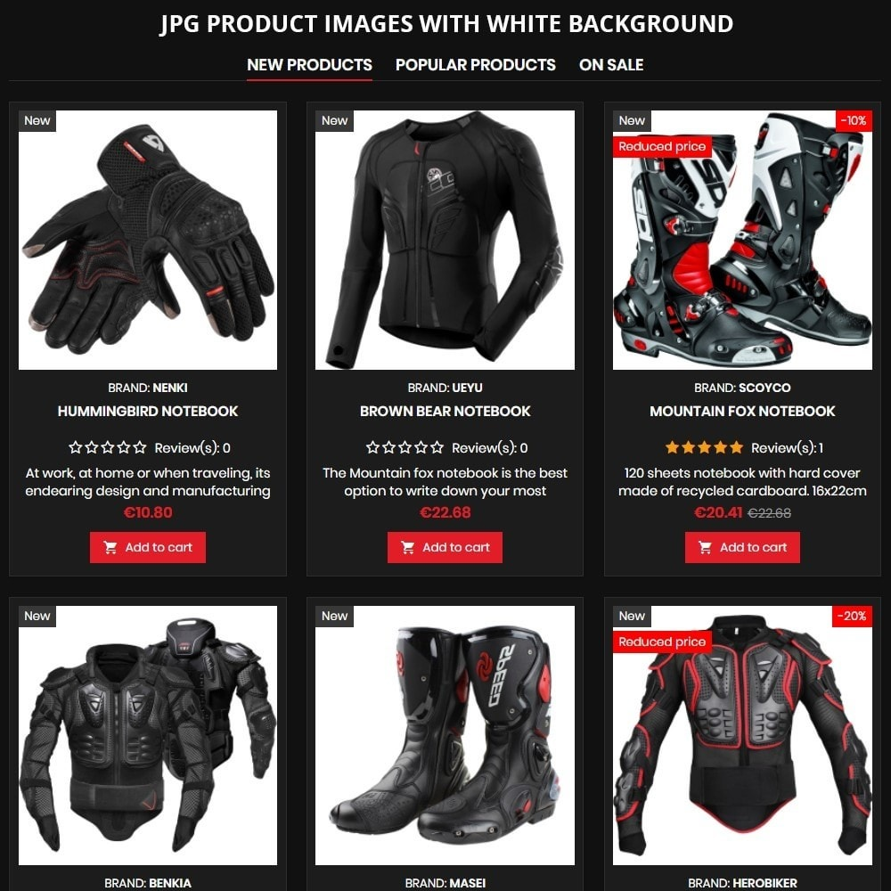 theme - Auto & Moto - AT19 Black - Motorcycles cloths and parts store - 8