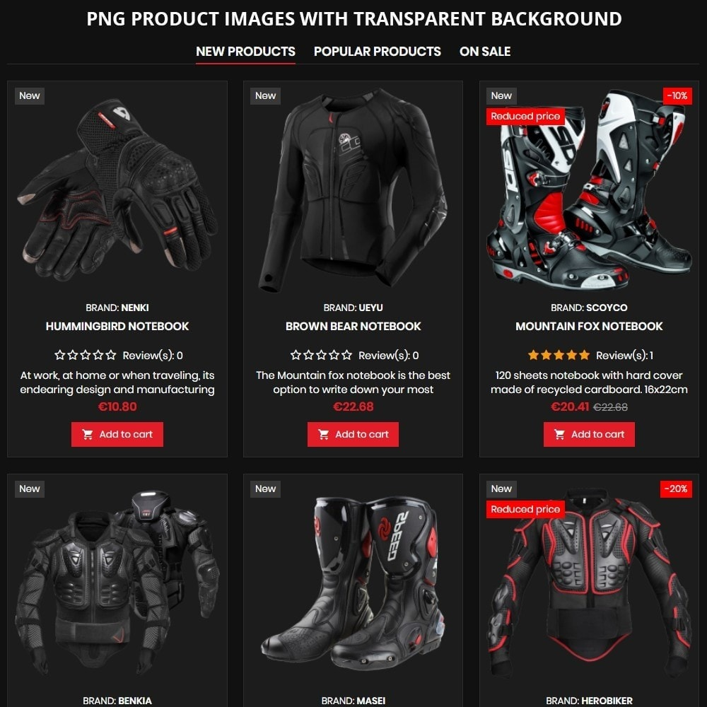 theme - Autos & Motorräder - AT19 Black - Motorcycles cloths and parts store - 9