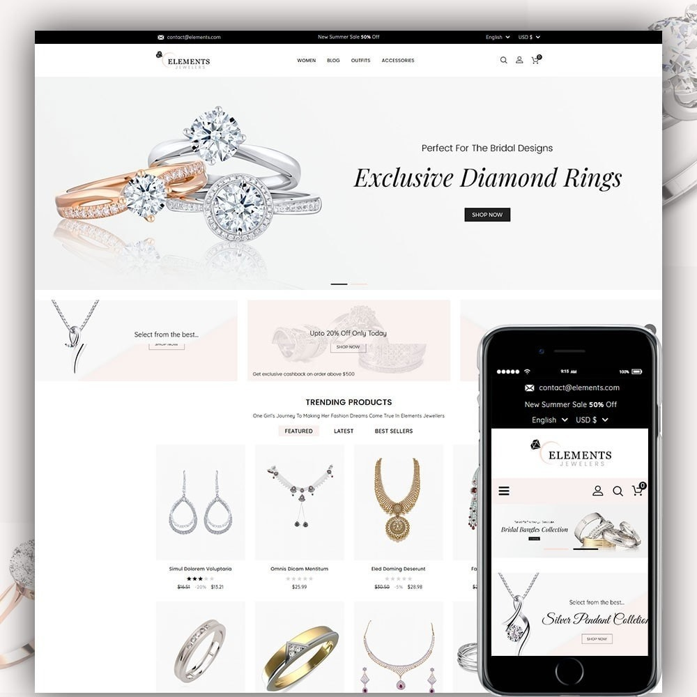 theme - Schmuck & Accesoires - Elements Jewellery Store - 1