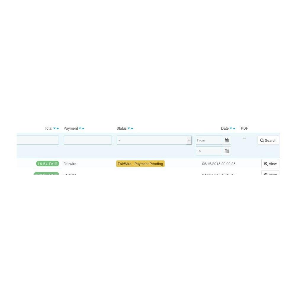 module - Pagamento con Carta di Credito o Wallet - Fairwire - 2