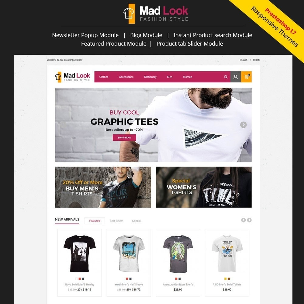 theme - Moda & Obuwie - Madlook Fashion Store - 1
