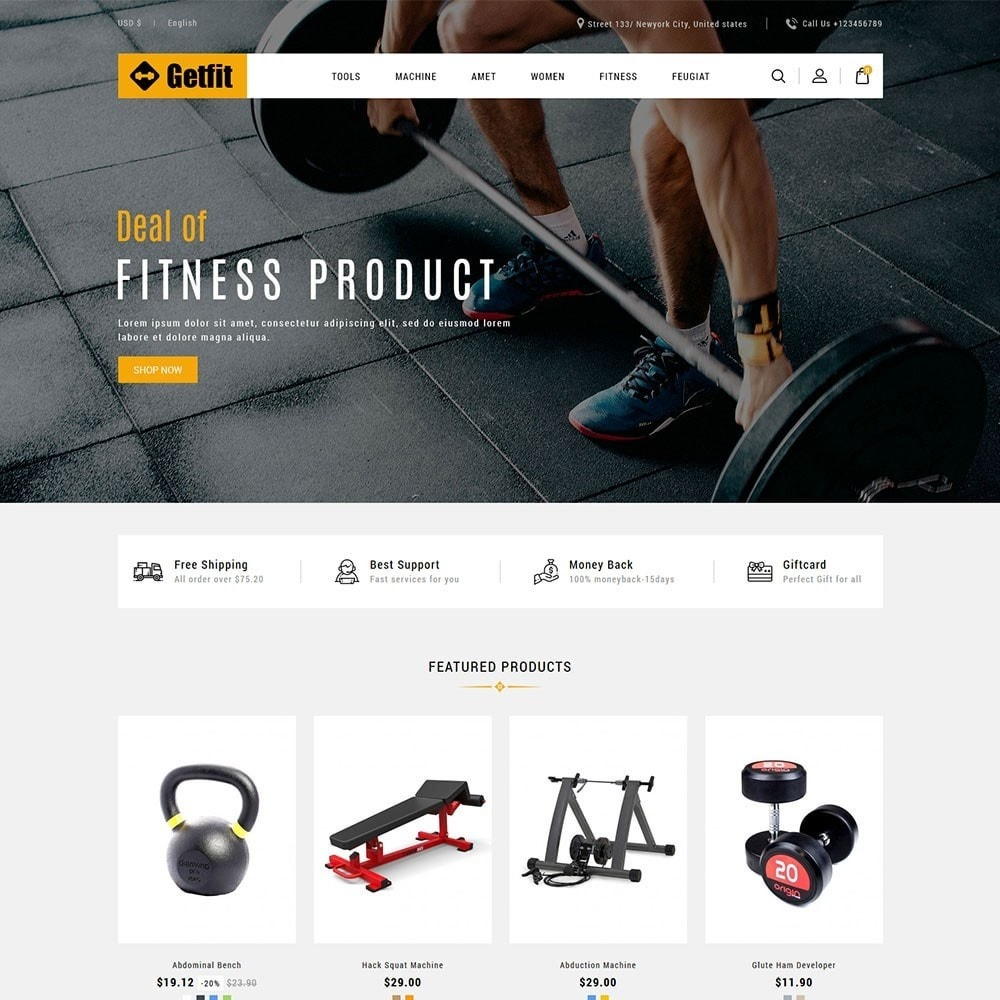 theme - Fashion & Shoes - Get Fit Gym Store - 2