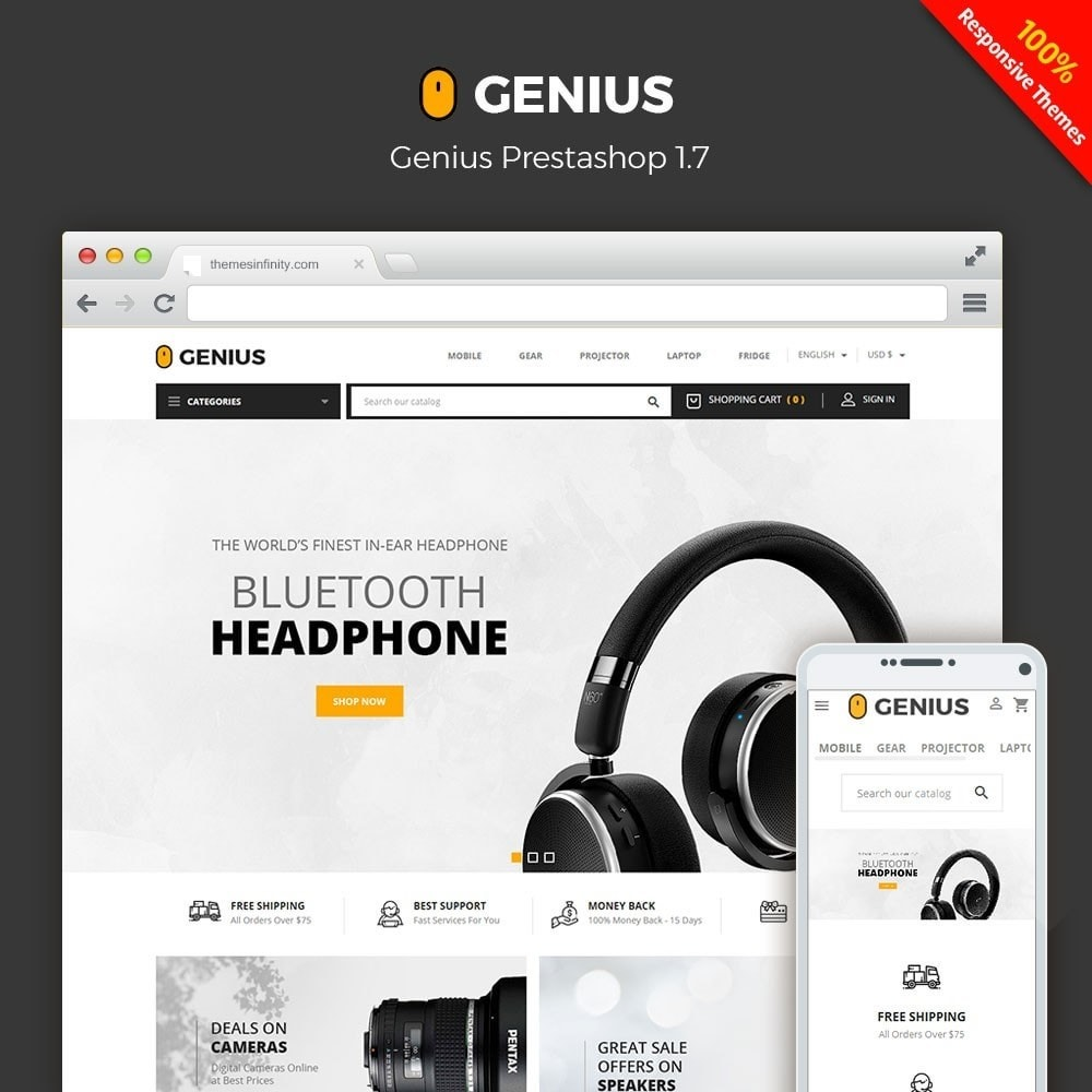 theme - Elektronica & High Tech - Genius - Electronics Online Store - 1