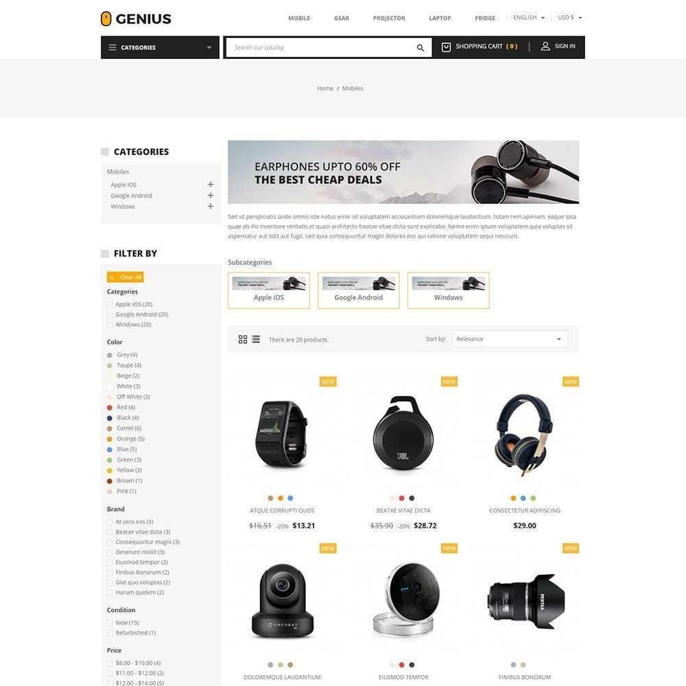 theme - Elektronica & High Tech - Genius - Electronics Online Store - 3