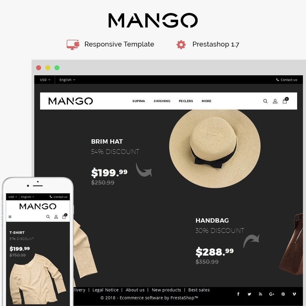 theme - Fashion & Shoes - Mango Fashion Demo - 1