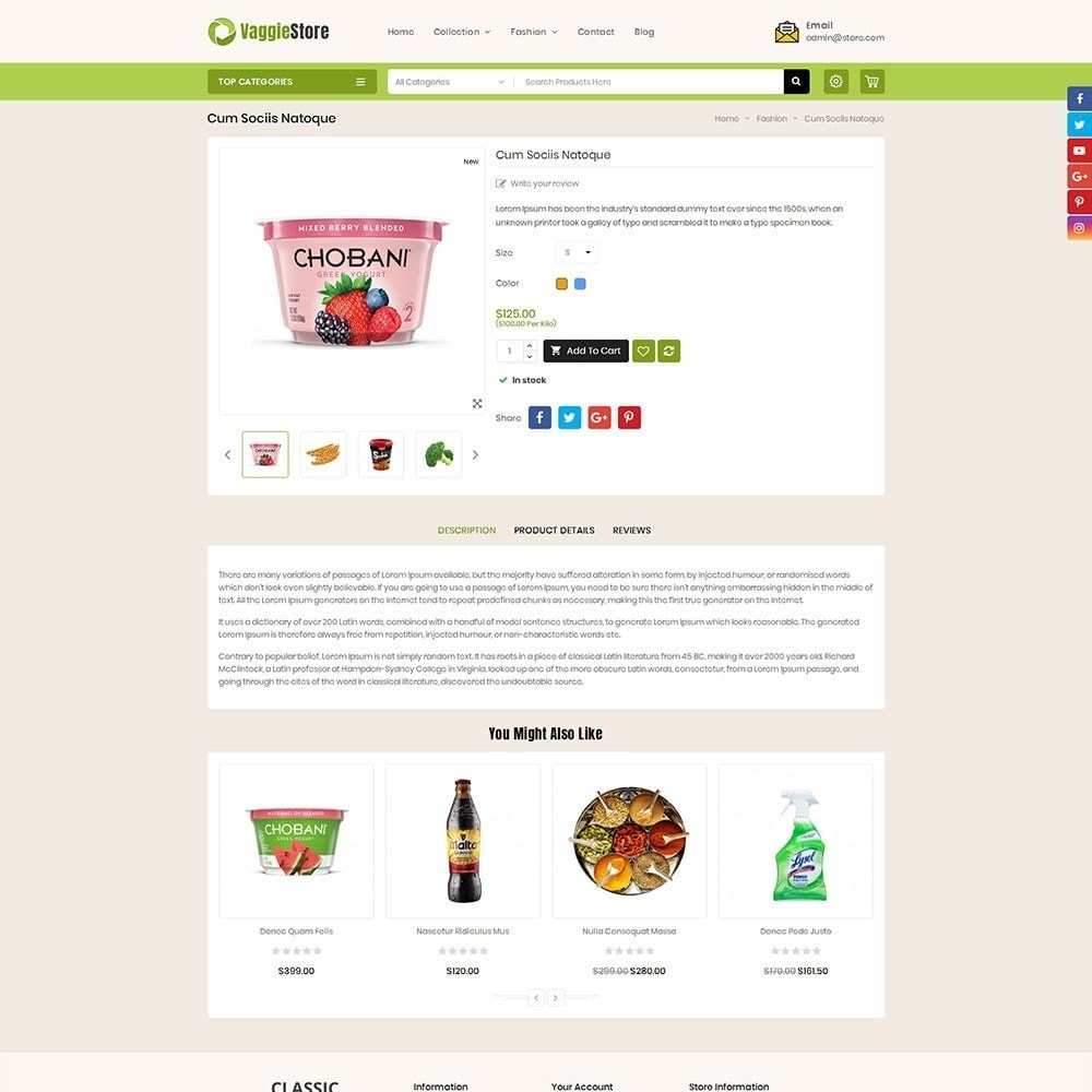 theme - Żywność & Restauracje - Vaggie Store - 5